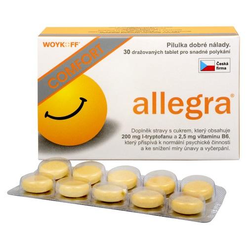 Allegra COMFORT s tryptofánom a vitamínom B6