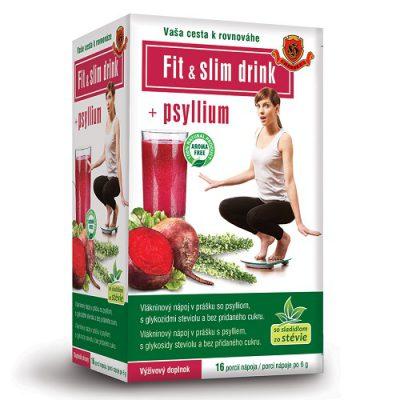 FIT & SLIM drink + Psyllium - detoxikačný vlákninový nápoj